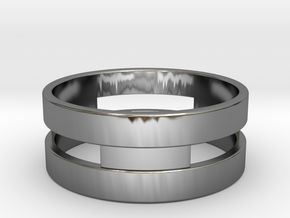 Ring g3 Size 8 - 18.19mm in Fine Detail Polished Silver