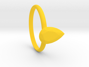 Pear gems Ring size 7.5 in Yellow Processed Versatile Plastic