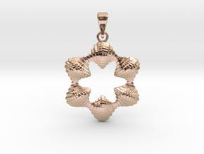 0065 Antisymmetric Torus Pendant (p=6.0) #006 in 14k Rose Gold Plated