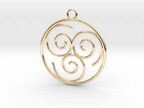 Avatar the Last Airbender: Air in 14k Gold Plated Brass