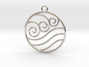 Avatar the Last Airbender: Water  in Rhodium Plated Brass