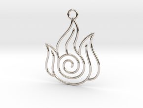 Avatar the Last Airbender: Fire in Rhodium Plated Brass