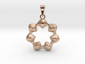 0067 Antisymmetric Torus Pendant (p=7.0) #007 in 14k Rose Gold Plated