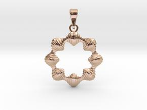 0069 Antisymmetric Torus Pendant (p=8.0) #008 in 14k Rose Gold Plated