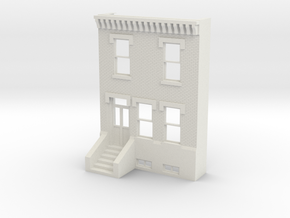 PHILLY ROW HOME 2 STORY FRONT 1/35 REV in White Natural Versatile Plastic