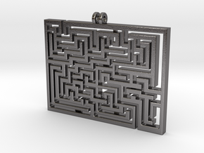 Labyrinth Pendant in Polished Nickel Steel