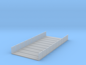 40ft Flatrack Container #2 (10pc) in Smooth Fine Detail Plastic