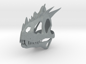 European Dragon Skull in Polished Metallic Plastic