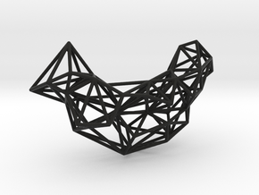 Mesh Necklace no.1 in Black Natural Versatile Plastic