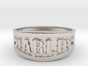 Harley Ring Size 14 in Rhodium Plated Brass
