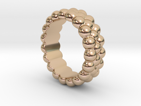 RING BUBBLES 21 - ITALIAN SIZE 21 in 14k Rose Gold Plated Brass