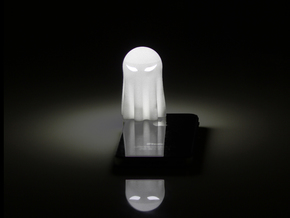 Lightclip: ninja Ghost, iPhone 4/4S in White Natural Versatile Plastic