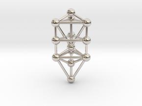 Small Triangular Tree of Life Pendant (no bail) in Platinum