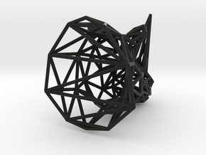 Rhino head wireframe in Black Natural Versatile Plastic