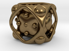 Dice No.2 S (balanced) (1.9cm/0.75in) in Natural Bronze