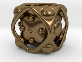 Dice No.2 M (balanced) (2.4cm/0.95in) in Natural Bronze