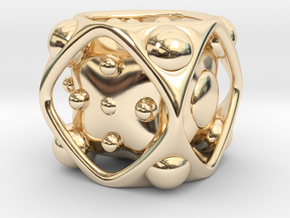 Dice No.2 L (balanced) (3.6cm/1.42in) in 14K Yellow Gold