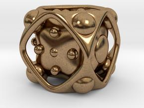 Dice No.2 L (balanced) (3.6cm/1.42in) in Natural Brass