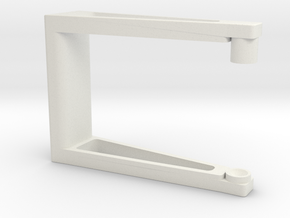 Handle for Zoetropes in White Natural Versatile Plastic