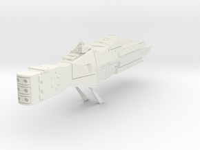 LoGH Alliance Destroyer 1:2000 in White Natural Versatile Plastic