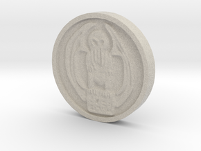Cthulhu Coin in Natural Sandstone