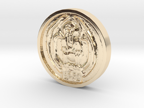Cthulhu Coin in 14K Yellow Gold