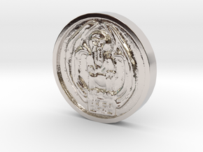 Cthulhu Coin in Rhodium Plated Brass
