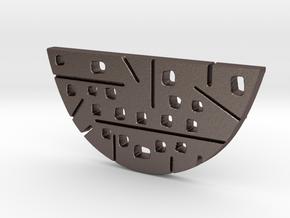 Split OVAL 2 Piece Pendant Bottom in Polished Bronzed Silver Steel