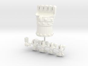 Iron Fist (Left) in White Processed Versatile Plastic
