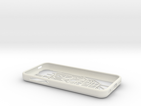 Tokyo Metro map iPhone 5c case in White Strong & Flexible