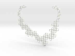 Hyperloop Necklace  in White Strong & Flexible