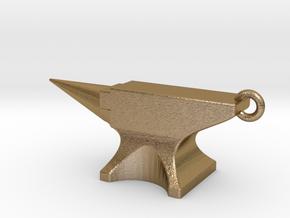 ANVIL Pendant in Polished Gold Steel