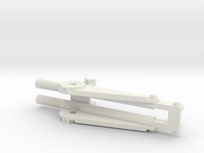 1:16 AA Mount for DShK machine gun. Part B in White Natural Versatile Plastic