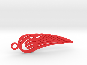 Angel Wing in Red Processed Versatile Plastic