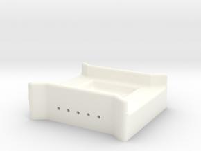 ZMR250 Holder Rev 3 in White Processed Versatile Plastic
