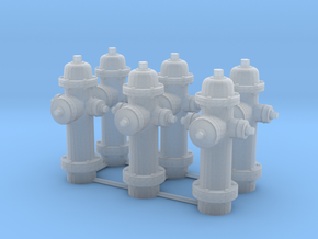 1/64 Hydrant Set of 6 in Frosted Ultra Detail