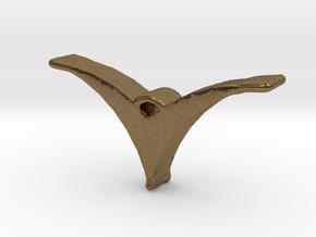 Bird pendant/necklace in Natural Bronze