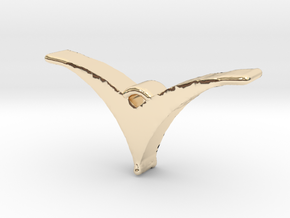 Bird pendant/necklace in 14K Yellow Gold