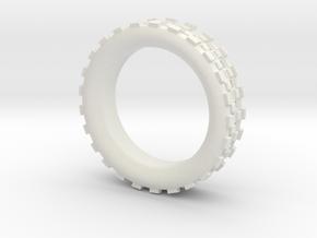 Mechawheel Ring - Size 7 in White Natural Versatile Plastic