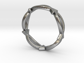 Jesus Fish Eternity Style Ring size 7 in Natural Silver