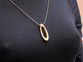 Gozyasi Pendant (#1491) in Polished Gold Steel