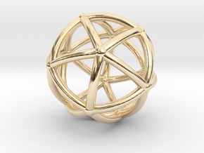 0074 Stereographic Polyhedra - Icosahedron in 14K Yellow Gold