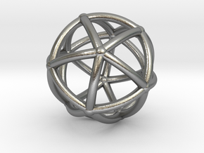 0074 Stereographic Polyhedra - Icosahedron in Natural Silver