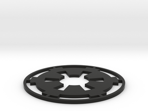 "Imperial Coaster - 4"" in Black Natural Versatile Plastic"