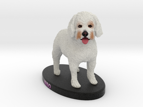 Custom Dog Figurine - Miso in Full Color Sandstone