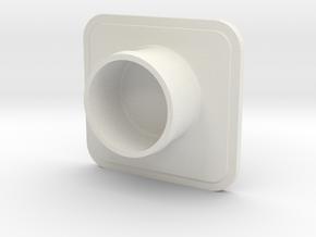 X2 Hood Cover (Single) in White Natural Versatile Plastic