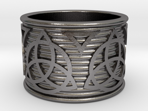 Celtic Ring size 14 in Polished Nickel Steel
