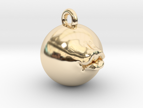 Pucker Up 1'' Pendant in 14K Yellow Gold