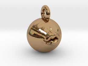 Pucker Up 2'' Pendant  in Polished Brass