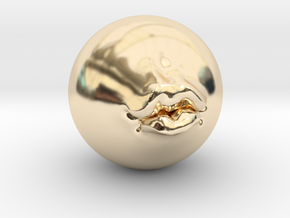 Pucker Up 2'' in 14K Yellow Gold